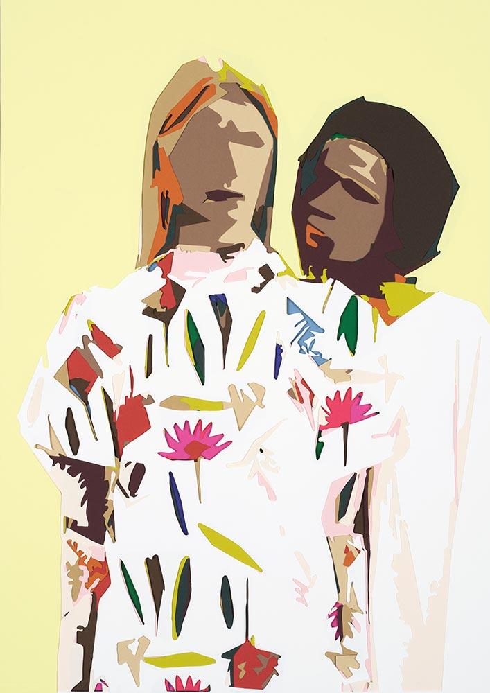 Baum und Pferdgarten Art Simon Vestford Duo